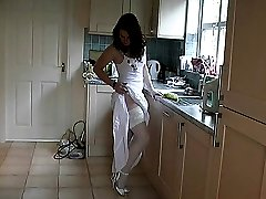 Alisons very feminine and stylish high heel are accentuated by her being all in white. Sensing...