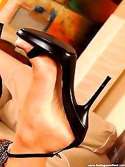 Hot blond in heels