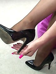 If you are finding your fetish for ladies shoes hard to control it is because in your mind you...