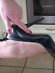 If the sight of Dr Holly caressing and feeling her high heel shoe gets you excited and ready to cum, then as you already know, you have a ladies shoe fetish which will never go away