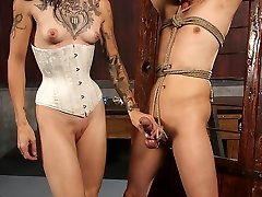 Simone Kross is known for being a vicious diabolical Domme. She shows no mercy to any man. In...