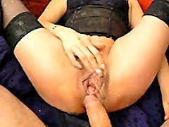 Extreme amateur fisted in her ruined cunt and anus