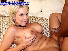 Alysha has some fun with nice big dark-hued cock