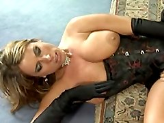 Gorgeous blonde babe gets a hard fisting