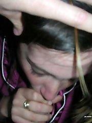 Naughty girlfriends blowing on lollipops
