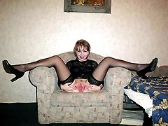 My lustful beautiful wife and each of my pretty GFs like wearing their nylon stockings while...