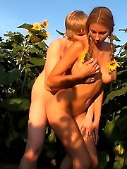 These teens disappear into the sunflower field for their horny sexual adventure. It`s the brilliant spot t have wild sex without being watched by anyone else.