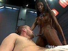 Natassia is a sex machine that has no off switch. She is a tireless Dom and most people can not keep up with her pounding. Today is no different - Rocky a member and fan requested to work with Natassia. He put his ass out for her and now he is seated in the slave position and taking a fucking at speeds and depths he is not ready to take. What does Rocky do? He does the right thing  - he hides his face, grits through the pain and drops a massive load as a hard earned release. And what does Natassia do? Anything she damn well wants.