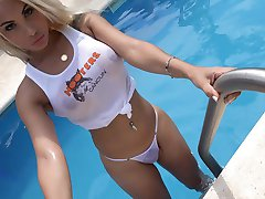 Hot as Hell shemale ANGELES CID is a slutty Hooters Babe