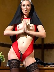 In her first shoot ever, Audrey Noir plays a curious virgin nun in training who is caught...