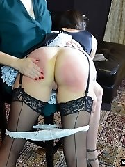 Snow Spanks Her Maid for Stealing
