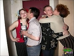 Mature couple teaches young swingersbr