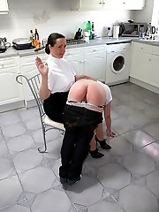 Fat mega-slut spanked to tears on her phat wobbly ass - flaming red buttocks