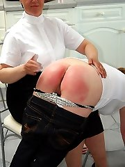 Fat bitch spanked to tears on her large wobbly ass - flaming red buttocks