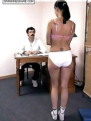 Spanked and abused in the medical room - naked girl gets spanked and probed