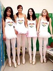 Four ballet lesbian lovers