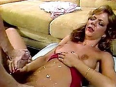 Cumming all over her body