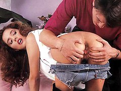 Seventies babe gets a cock