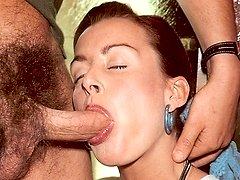 Horny eighties lady has sex