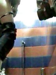 Unlucky girls get filmed peeing in toilet