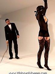 Blindfolded for harsh whipping