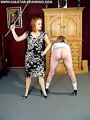 Young schoolgirl is brutally spanked and humiliated by cruel Mistress