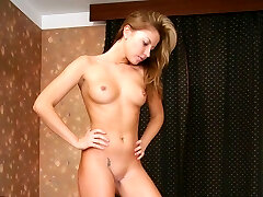 Lovely mistress gets naked to feed tied slave with her pussy soakin moist