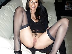 Sluts in stockings posing and in action gal