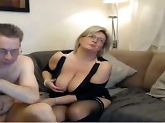 Mature mummy have a webcam sex with big perfect breasts