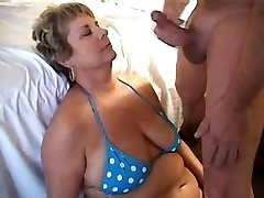 Deepthroating a load on mummies face 1fuckdatecom