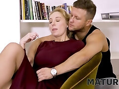 Matures Tight Pussy Is Nailed By The Employers Horny Stepson