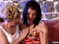 Champagne party turns into a lesbian fuckfest with guys mom and his girlfriend