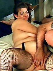 Horny fatty enjoys wet pussy licking