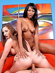 Sexy black hottie enjoys nasty ass spanking