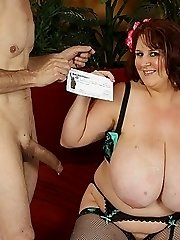 Amazing Large Tits On Slutty Redhead Bbw
