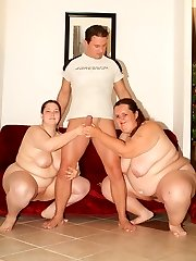 Naughty ginormous housewife invites a fantastic plumper named Esther to share her husband