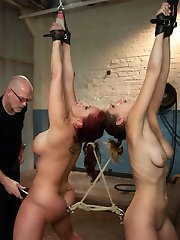 Kelly Divine and Audrey Rose are both delightfully submissive and share the tasks of enduring...