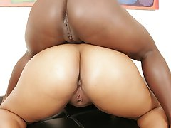 Wet black snatches fucked hard with toys