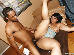 huge black booty riding a cock