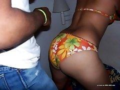 Black chick pleasuring her boyfriend