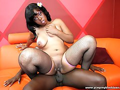 Ghetto teen gets a thick dick up her black snatch