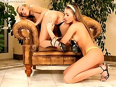 Sublime teens undress and finger