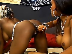 Black girls please each other039s hot pink