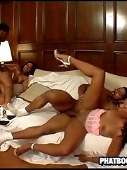 horny black slut gets fucked in her fat PUD