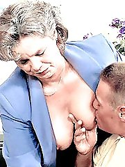 Mature secretary having her chubby cunt drilled in the office