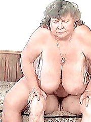 Big titted granny enjoying some 69 fun