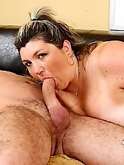 Sucking down some big cock