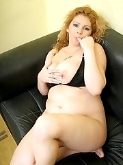 Big babe Luana has her huge tits jizzed after riding a huge cock in the living room