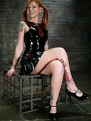 Scarlett became known to us during a test shoot for My First Time Bound. She liked bondage so...