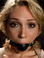 19 year older Lily LaBeau gets her first taste of Sadism & Masochism and enjoys it!  Her submission is breathtaking, enduring beautifully under James Deen's stern domination.  This is an intense scene with genuine reactions from a beautiful girl and great chemistry.   Includes bound fisting, anal toys, caning, sex and bondage, raunchy fuck-fest, deep throat and orgasms!